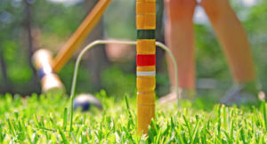 summer school students playing croquet