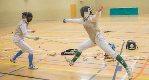 summer school students fencing