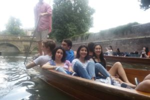 students will enjoy the punting tour on river Cam