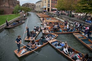 punting activity in summer school Cambridge