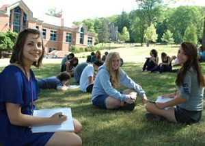 students on creative writing summer school in Cambridge