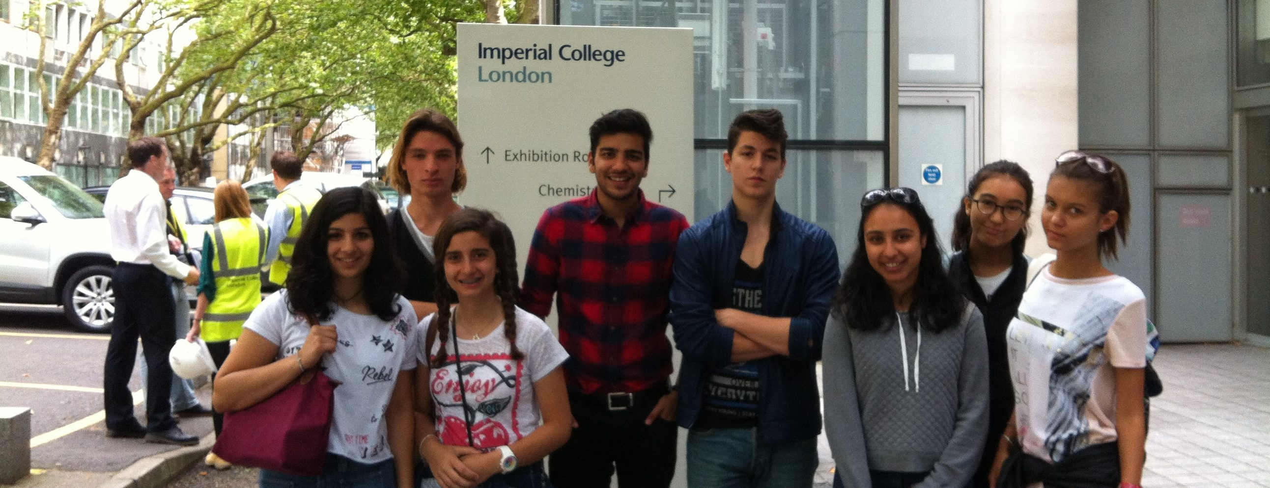 students visiting the Imperial college in London