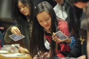summer school students on global leadership course