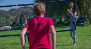 summer school students playing volleyball
