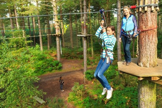 one of our London summer activities highlights is the go ape adventure