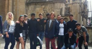 students on day cultural trip to Oxford