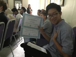 Lite Regal Psychology Student Celebrating his achievement in Graduation Day