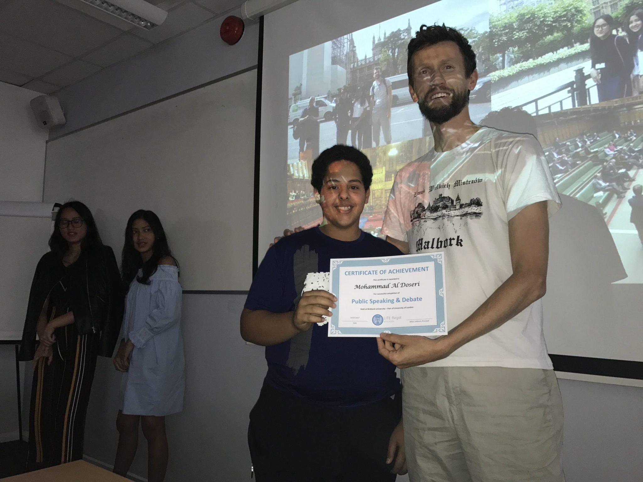 Public Speaking Summer Course at Lite Regal Education