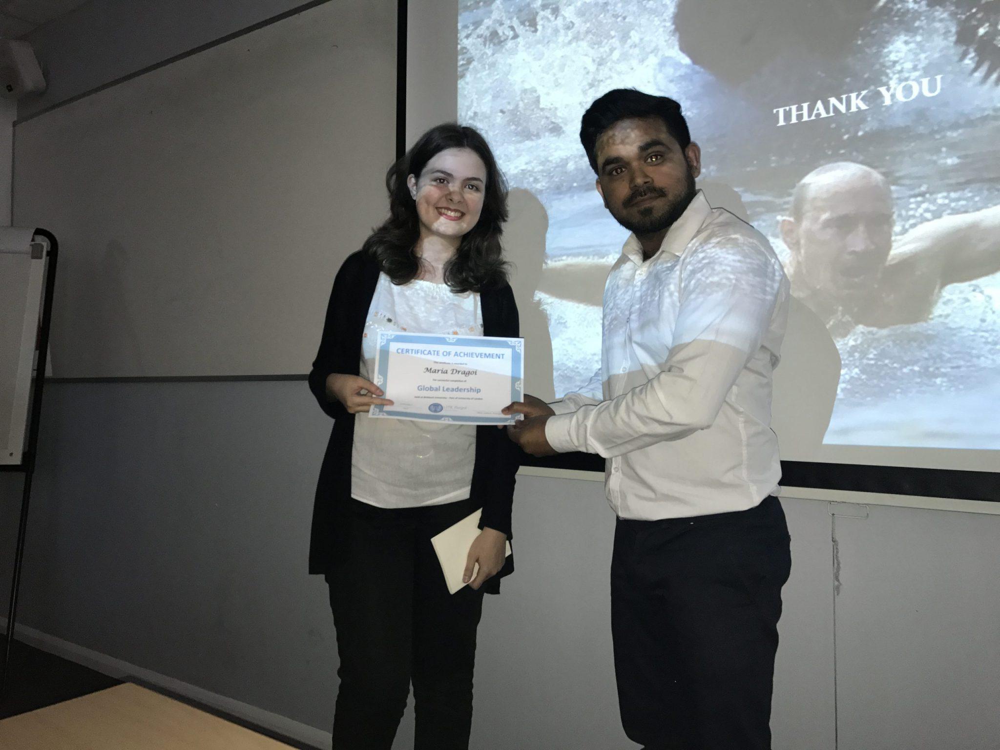 Global Leadership Certificate - Maria D from Lite Regal Education